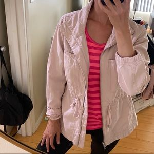Old Navy blush pink utility jacket Small
